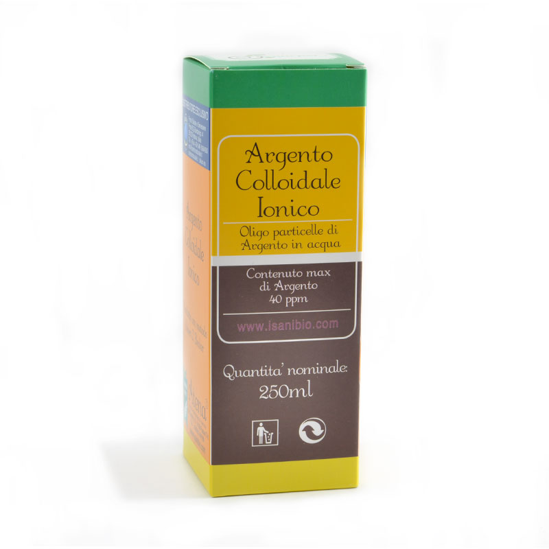 argento colloidale ionico 40ppm 250ml