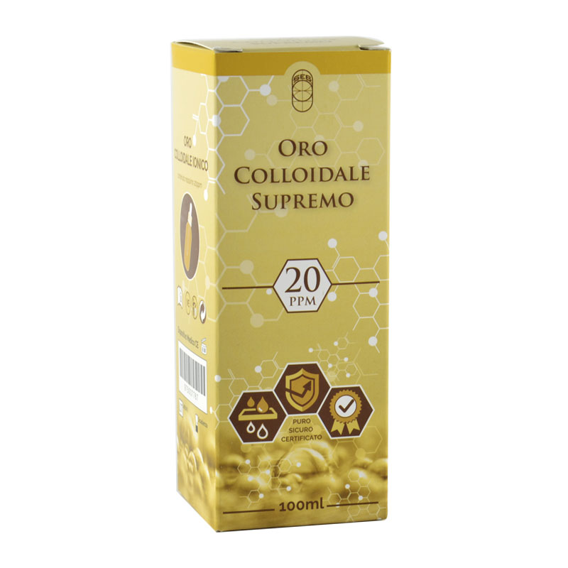 oro colloidale ionico supremo 20ppm 100ml